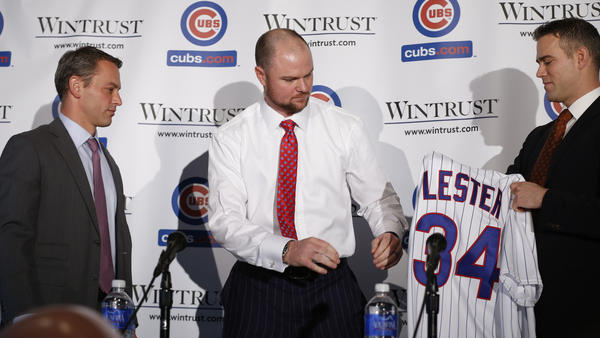 Theo briefs Jon Lester on Chicago media