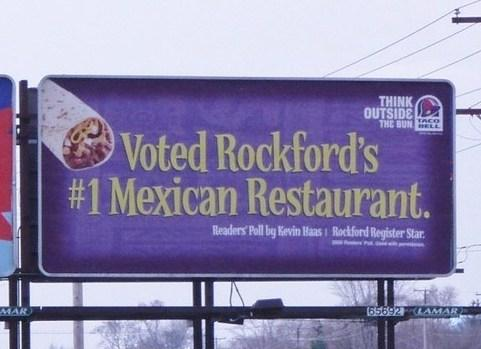 Rockford Taco Bell billboard